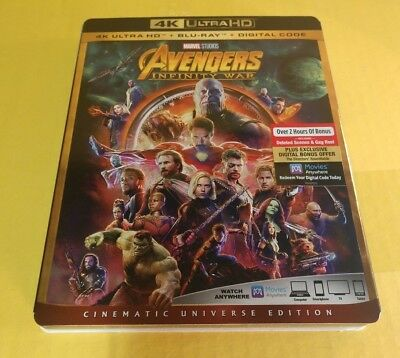 Avengers Infinity War (4K Ultra HD/Blu-ray+HD Digital)Slipcover-NEW-Free S&H