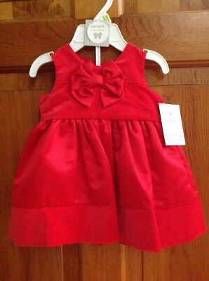 15ef2ebc7 CARTERS Baby Girls Size 3 Mos Red 2-piece Dress Set Christmas Holiday NWT