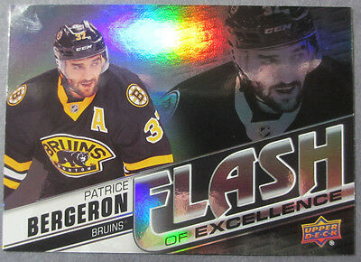 2015-16 Upper Deck Overtime Flash Of Excellence #7 Patrice Bergeron Boston