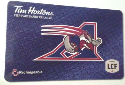 French Tim hortons Montreal Allouettes gift card zero balance RECHARGEABLE