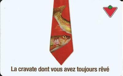 Limited Ed New Tie Gift Card From Canadian Tire No Value Bilingual Rechargeable