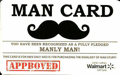 Movember Man Mint Gift Card From Walmart Canada Bilingual No Value Rechargeable