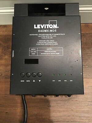 Leviton D4DMX-MD5 4-Channel Programmable Dimmer Pack 5-pin