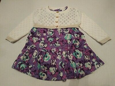 4311fe380bbf NWOT CAT   JACK Baby Girls EASTER DRESS with Sweater Size 3 6 Months ...