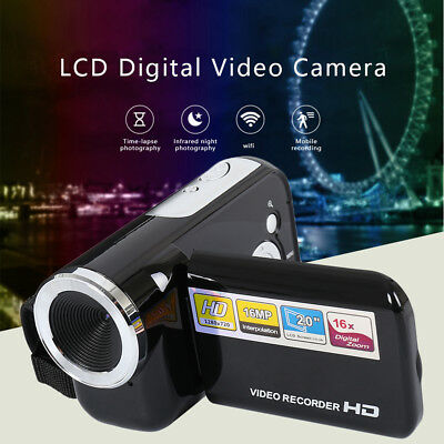 "16MP Mini Digital Video Camera DV Camcorder 2.0"" HD LCD Night Recorder Kid Gift"