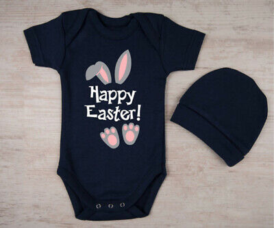 Easter Newborn Baby Girl Boy Bunny Ears Romper Jumpsuit Clothes Outfits US Stock