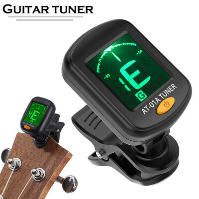 LCD Clip-on Electronic Digital Guitar Tuner Chromatic Bass Violin Ukulele New