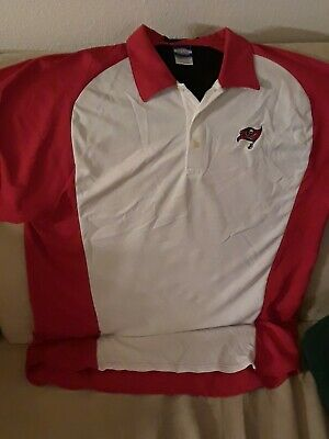 a01d3770 NEW MEN'S NFL TAMPA BAY BUCCANEERS S/S GOLF,LEISURE POLO SHIRT WHITE ...