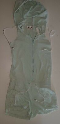 Super Cute GUM Hooded Sleeveless Playsuit Jumpsuit Size 14 Pale Green EUC