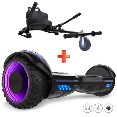 """Gyropode 6.5"""" Scooter Overboard Roue Clignotante Bluetooth avec Hoverkart"""
