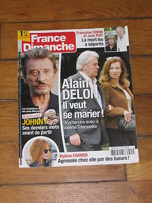 France Dimanche 3725 - Alain Delon, Johnny Hallyday, Mylène Farmer, George Weah