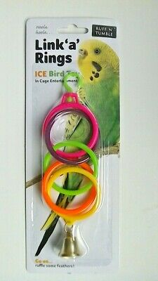 Link 'a' Rings Budgie / Small Bird Toy - Suitable For All Small Cage Birds - New