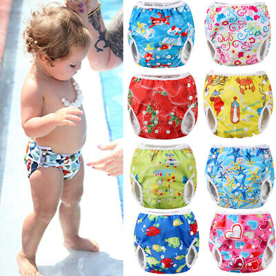 Adjustable Reusable Baby Summer Swim Diaper Swim Trunks Waterproof Swimwear USA
