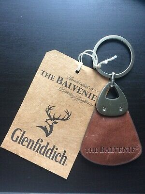 The Balvenie Keyring - Glenfiddich - Leather - Brand New - Collectible