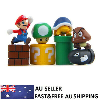 Super Mario Action Figure Kids Toys Luigi Goomba Koopa Troopa Characters 8 PCS