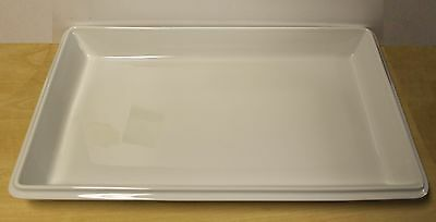 Full Size Genware  Porcelite Gastronorm Serving Dish GN1B 53x32.5x6cm White E4A