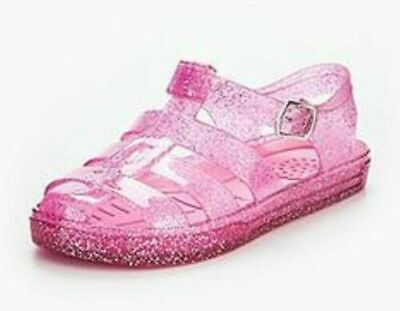 Abigail Girls Jelly Sandal Pink Glitter New