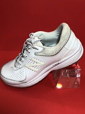 cd191d1af858 New Balance Women s WW411WT2 Walking Shoes White Leather US Size 9 D Wide
