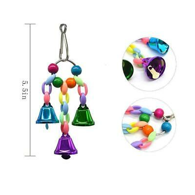 6PCS Parrot Hanging Swing Bird Toy Harness Cage Toy Parakeet Cockatiel Swing Toy