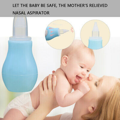 Manual Silicone Nasal Aspirator Nasal Suction Pump Baby Nose Cleaning Tool NZX3