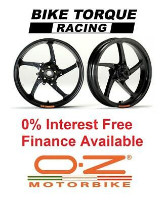 Black OZ Piega Superlight Alloy Wheels Kawasaki ZZR1400 06-13