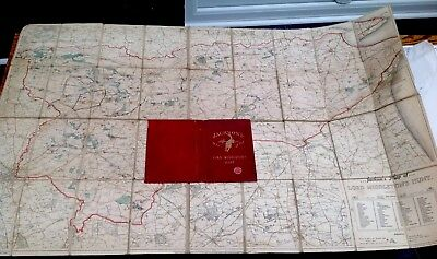 Jackson's Map of the Lord Middleton Hunt - BACON - YORKSHIRE- sectional linen