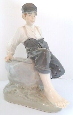 "Royal  Copenhagen Figur  ""Shepherd Boy on Rock "" 1659 I Wahl Chr. Thomsen TOP"