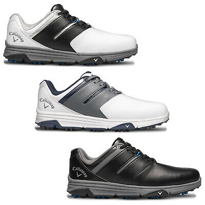 2019 Callaway Mens Chev Mission Spiked Waterproof Leather Lightweight Golf Shoes