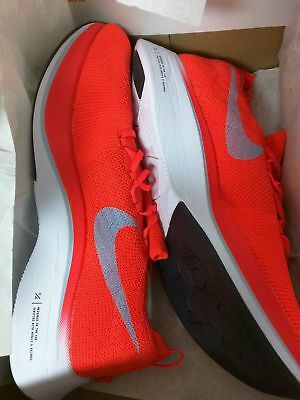 800473c4f9ba8 Nib Nike Zoom Vaporfly 4% Flyknit Men s 12 D Bright Crimson ice Blue Aj3857