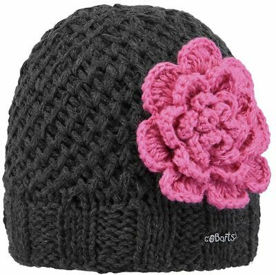 Barts Mädchen Mütze Rose Beanie Blume Applikation Winter Fleece Inside pink