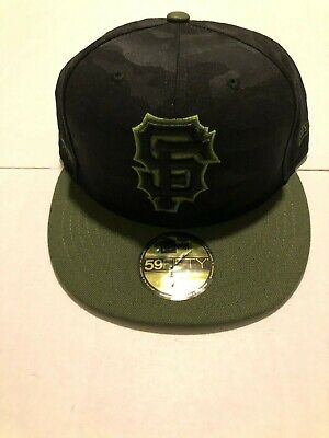 on sale a6b22 3b67f San Francisco Giants New Era 2018 Memorial Day Fitted Hat Cap 59FIFTY MLB 7  1