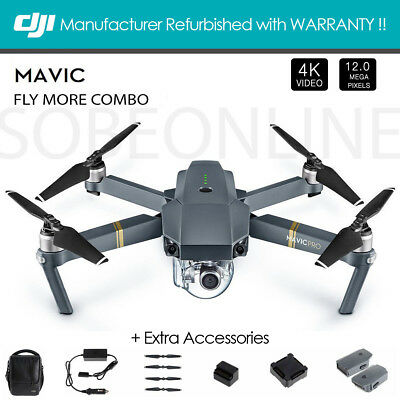 DJI Mavic Pro Fly More Combo Quadcopter with 4K HD Camera (Pre-Owned)