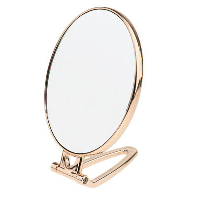 Adjustable Foldable Standing Round Make-Up Mirror 2x Zoom for Beauty Makeup
