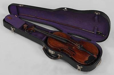 Josef Engleder's German Antique Violin circa 1812? w/ Tourte bow & case 24""