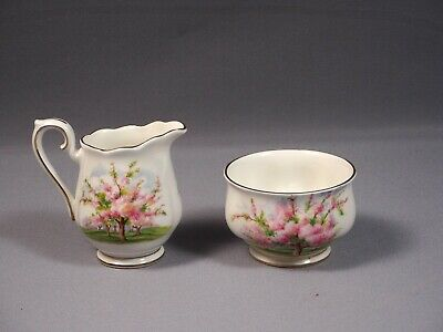 Royal Albert Blossom Time Cream Milk Creamer Jug Sugar bowl  Bone China England