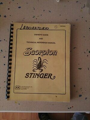 Scorpion Stinger Original Owners Guide & Technical Reference Manual