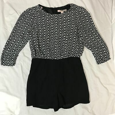 ce4da50f2bc Women s Forever 21 Contemporary Black White Romper Size Small EUC PICK  SHIPPING