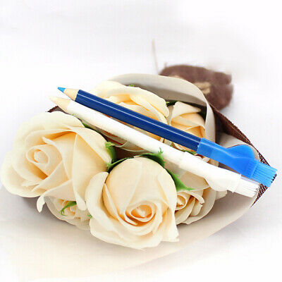 2Pcs tailors marking chalk pen pencil for sewing fabric leather cloth DS