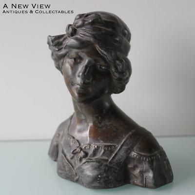 Antique small Art Deco lady bust.