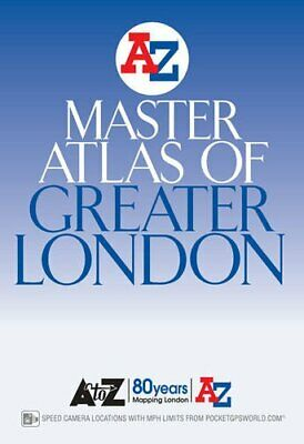 Master Atlas of Greater London by Geographers A-Z Map Company, Paperback Book, N