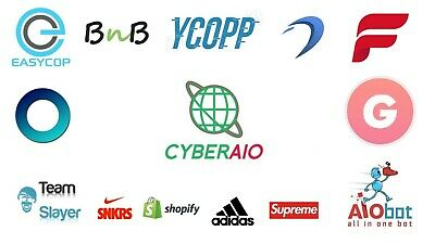 Sneaker Bot Pack-CyberAIO, Another Nike Bot, BNB, ForceCop,Ghost SNKRS, and more