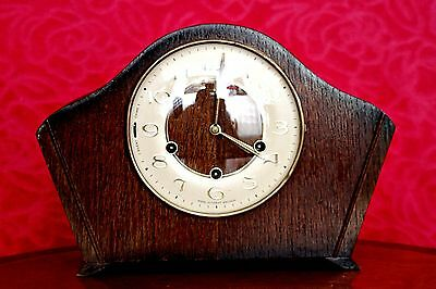 Vintage Art Deco 'Smiths' Floating Balance Mantel Clock with Westminster Chimes