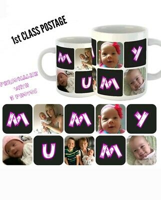 PHOTO MUMMY MUG Personalised Mothers Day Gift Best Mum Birthday Present Cup