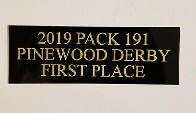 "1"" x 3"" BLACK/GOLD NAME PLATE FREE ENGRAVING TROPHIES PLAQUES ART"