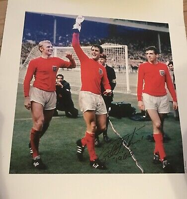 1966 England World cup Sir Geoff Hurst signed photograph COA (w  Moore    Peters e6f03b102
