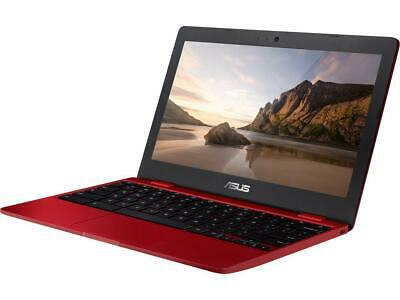 "ASUS Chromebook C223NA-DH02-RD 11.6"" HD N3350 CPU (up to 2.4 GHz) 4GB RAM, Red"