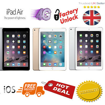 New Apple iPad Air Wi-Fi Cellular LTE 9.7 inch Touch Screen Unlocked Sealed Pack