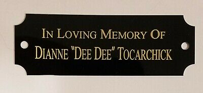 "1"" x 3"" BLACK/GOLD NOTCHED NAME PLATE FREE ENGRAVING TROPHIES PLAQUES ART"