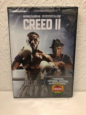 Creed II 2 DVD 2019 Single Disc Edition, Michael B. Jordan, Stallone, Brand New!