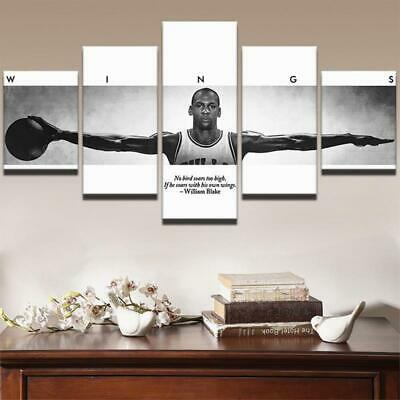 Michael Jordan Wings Canvas Art Print for Wall Decor Painting Sports Teams Flag